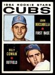 1964 Topps #192   -  Billy Cowan / John Boccabella Cubs Rookies Front Thumbnail