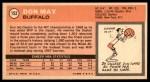 1970 Topps #152  Don May   Back Thumbnail