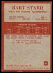 1965 Philadelphia #81  Bart Starr   Back Thumbnail