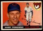 1955 Topps #184  Harry Perkowski  Front Thumbnail