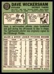 1967 Topps #112  Dave Wickersham  Back Thumbnail