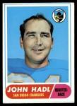 1968 Topps #63  John Hadl  Front Thumbnail
