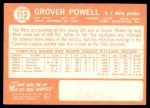 1964 Topps #113  Grover Powell  Back Thumbnail