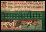 1954 Topps #182  Chuck Harmon  Back Thumbnail