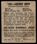 1949 Leaf #139  Johnny Hopp  Back Thumbnail