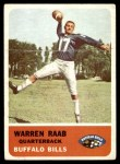 1962 Fleer #22  Warren Raab  Front Thumbnail