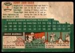 1954 Topps #4  Hank Sauer  Back Thumbnail