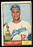 1961 Topps #168  Tommy Davis  Front Thumbnail