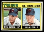 1967 Topps #137   -  Ron Clark / Jim Ollom Twins Rookies Front Thumbnail