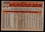 1957 Topps #215  Enos Slaughter  Back Thumbnail