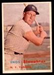 1957 Topps #215  Enos Slaughter  Front Thumbnail