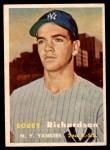 1957 Topps #286  Bobby Richardson  Front Thumbnail