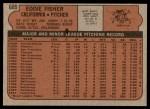 1972 Topps #689  Eddie Fisher  Back Thumbnail