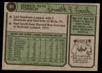 1974 Topps #91  Ken Forsch  Back Thumbnail