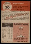 1953 Topps #30  Willard Nixon  Back Thumbnail