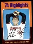 1975 Topps Mini #5  Nolan Ryan  Front Thumbnail