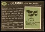 1969 Topps #228  Jim Butler  Back Thumbnail