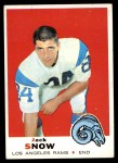 1969 Topps #256  Jack Snow  Front Thumbnail