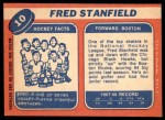 1968 Topps #10  Fred Stanfield  Back Thumbnail