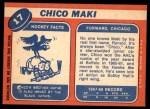 1968 Topps #17  Chico Maki  Back Thumbnail