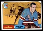 1968 Topps #67  Ed Giacomin  Front Thumbnail