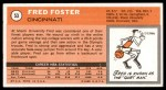 1970 Topps #53  Fred Foster   Back Thumbnail