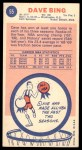 1969 Topps #55  Dave Bing  Back Thumbnail