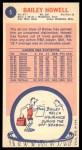 1969 Topps #5  Bailey Howell  Back Thumbnail