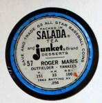 1963 Salada Metal Coins #57  Roger Maris  Back Thumbnail