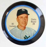 1962 Salada Coins #80  Clete Boyer  Front Thumbnail