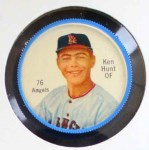 1962 Salada Coins #76 RED Ken Hunt  Front Thumbnail