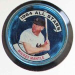 1964 Topps Coins #131 LHB  -  Mickey Mantle All-Star Front Thumbnail