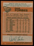 1978 Topps #167  Dave Forbes  Back Thumbnail