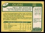 1980 O-Pee-Chee #289  Mark Messier  Back Thumbnail