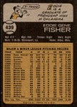 1973 Topps #439  Eddie Fisher  Back Thumbnail