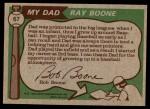 1976 Topps #67  Ray Boone / Bob Boone  Back Thumbnail