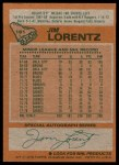 1978 Topps #161  Jim Lorentz  Back Thumbnail