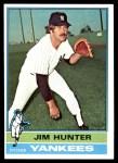 1976 Topps #100  Catfish Hunter  Front Thumbnail