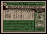 1979 Topps #695  Keith Hernandez  Back Thumbnail