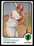 1973 Topps #156  Cesar Geronimo  Front Thumbnail