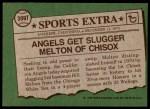 1976 Topps Traded #309 T Bill Melton  Back Thumbnail