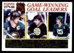 1980 Topps #167   -  Danny Gare / Peter McNab / Blaine Stoughton Game Winning Goal Leaders Front Thumbnail