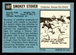1964 Topps #107  Smokey Stover  Back Thumbnail