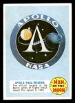 1969 Topps Man on the Moon #2 A  Apollo / NASA Insignia Front Thumbnail