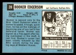 1964 Topps #28  Booker Edgerson  Back Thumbnail