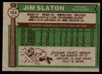 1976 Topps #163  Jim Slaton  Back Thumbnail
