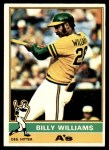 1976 Topps #525  Billy Williams  Front Thumbnail