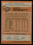 1978 Topps #163  Harvey Bennett  Back Thumbnail