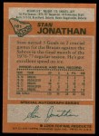 1978 Topps #181  Stan Jonathan  Back Thumbnail