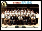 1978 Topps #193   Bruins Team Checklist Front Thumbnail